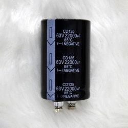 Type à boulon de haute qualité, de condensateurs électrolytiques aluminium MFD 22000063V condensateur actuel d'ondulation élevé