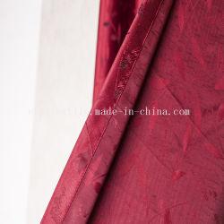 Prety feuilles rouges Cantonic fils teints Tissu pour rideaux salle de séjour et chambre à coucher