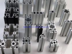 L'anodisation aluminium extrudé, châssis Alunimum Alunimum les fentes en T, V emplacements, de l'industrie, des profils extrudés en aluminium Aluminium 6063/6061 Extrusion profiles