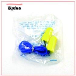 La sécurité industrielle avec des bouchons d'oreille de gros de corde bleu