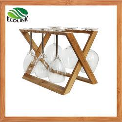 자연적인 대나무 포도주 잔 선반/컵 선반
