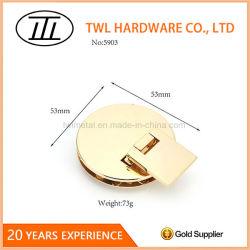 Commerce de gros sac à main Metal Voyant accessoire Flip Lock Gold