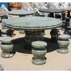 Grüner Granit-Stein-im Freien Park-Prüftisch und Tisch