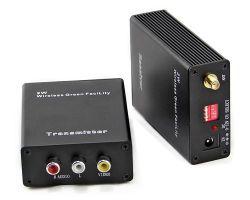 ناقل إشارة صوت وفيديو/فيديو وفيديو/فيديو لاسلكي من CCTV بقوة 2 واط بسرعة 2.4 جيجاهرتز مستقبل المرسل