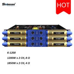 Sinbosen 1u de Audio Profesional amplificador de canales 2 K-1200 amplificador de potencia digital