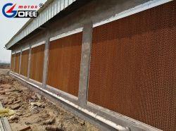 Niedriges Skalierung-Gewächshaus-nasse Vorhang-Wasser-Verdampfungskühlung-Auflage