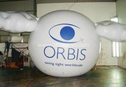 Terra de gigantes impresso personalizado Publicidade Balão de hélio inflável em forma de balão de ar quente com Blower
