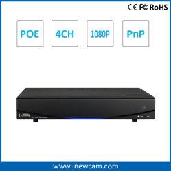 H. 264 1080P/2 MP 4CH Onvif PoE P&P Network DVR