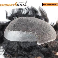 Кружевной передней части акций индийских мужчин Toupee волос