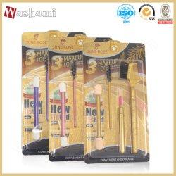 Wash الأعلى بيع 4 في 1 ماكياج التجميل خاص ملصق ماكياج مجموعة فرشاة