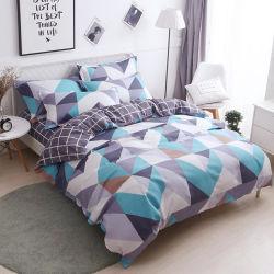 Nantongのホーム織物の製造Gemetricは80GSM 1700糸のカウントの卸売の寝具セットを印刷した