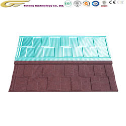 Matériaux de construction léger Stone-Coated Tuile de métal de couleur