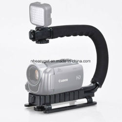Camcorder Stabilizer Triple 3 schoenbevestiging Cameragreep Video Action Stabilizing-handgreep voor DSLR-camera Canon Nikon Sony IPhone 7 Plus Esg10211