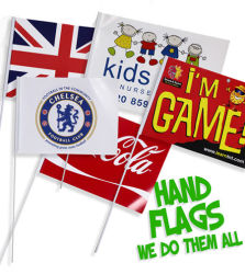 El papel de promoción barata PE Bandera La bandera La bandera La bandera de poliéster PVC Bandera Bandera de palo de mano