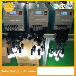 ポータブル 50W 60W 70W 小型ソーラーホームキット、 USB 付き 電話充電器