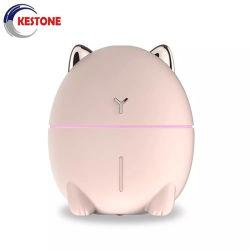 Ultrasonicair Befeuchter-warmer Nebel-Befeuchter mit Lampen-Luft-Reinigungsapparat-netter Karikatur-Katze-nachladbarer kühler Nebel-Minibefeuchter