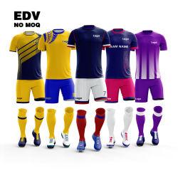 Gepersonaliseerde voetbaljersey kleding 100% Polyester Sublimation voetbaljersey