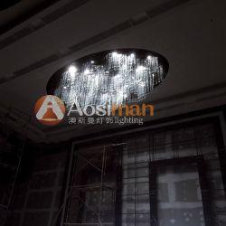 Breve caída de cristal colgante con luz ciega para decoración de salón