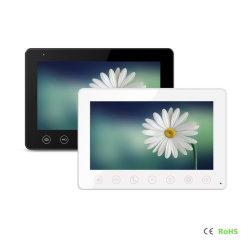 Vídeo IP de 7 pulgadas de timbre del teléfono de la puerta de entrada de Sistema de intercomunicación con 2 monitor 1 de la cámara de infrarrojos de la puerta de audio teléfono