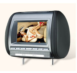 Monitor de cabeça de 7 polegadas /DVD (DVD+Jogos+SD ++DualIR USB+ FM+MP4+DIVX)(HRD-750HD) USD82-USD84