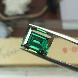 Pietra preziosa sintetica sintetica di Moissanite del taglio del Baguette di colore della pietra preziosa D di verde caldo di vendita per la fabbricazione dei monili