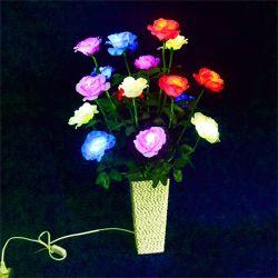 Di alta qualità di natale della Rosa mini LED indicatore luminoso dell'interno del fiore della decorazione del fiore di ciliegia della lampada della filiale