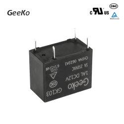 Mini-relais d'alimentation à interface mince 12 V c.c. de bonne qualité Gk103-1al DC12V 5 A.