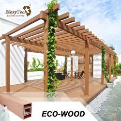 Compuesto de plástico madera Pérgola Jardín Pérgola Gazebo WPC