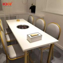Design clássico Kkr retangular 4-12 Lugares resistente a manchas Superfície sólida a cores de alta Bar/ Reparável café e restaurante moderno de mesa