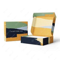 Commerce de gros fruits postale Boîte en carton ondulé en carton de papier Kraft Emballage un plateau thé/caisson de nettoyage/vin/livre/Toy/foulard/Vêtements/téléphone