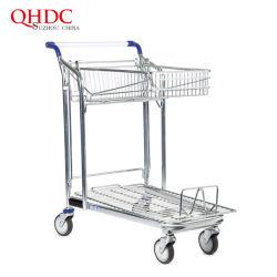 Stahlladung-Laufkatze-Lebensmittelgeschäft-Supermarkt-Einkaufswagen