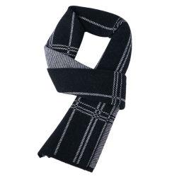 2020 Nuevo estilo de invierno la moda de alta calidad 100% lana pura calidez y gruesas Bufandas británico Plaid larga bufanda informal para hombres