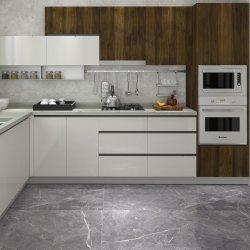 Mezcla de cocina de madera lacado Blanco alto brillo acabado para muebles de madera