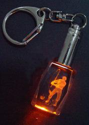 Porta-chaves de cristal com luz de LED (HDKC2007)