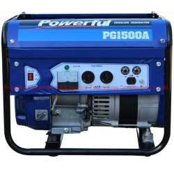 Potente 1.2-1.5Kw Home Use Gasolina portáteis móveis Grupo Gerador (PG1500BL) por 2-2.5HP Motor a gasolina, certificada com a EPA/Carb/Euro V