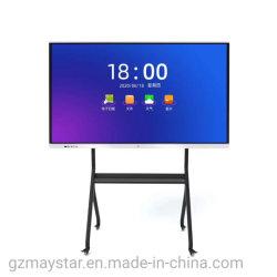 """65""""~110"""" 4K UHD Doble LCD OS Android Windows Multi Touch electrónica interactiva de pantalla de pizarra con la cámara micrófono para el Aula Reunión"""