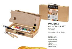 Estudiante Don Box Set de madera Pintura Óleo