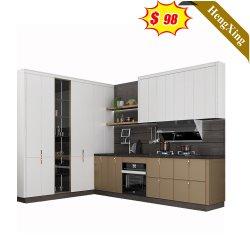 Casa de lujo de la luz de la madera Muebles de Cocina comedor cocina armario Armario de Cocina de melamina Armario (UL-22CB148)