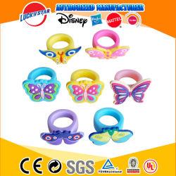 حفلة الأميرة بالجملة تفضل مجموعة من حلقات الأصابع المطاطية للأطفال الفراشات هدايا المجوهرات للفتيات