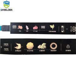 Последней печати двойной дисплей высокой чувствительных слайда нажмите светодиодный индикатор мембранный переключатель панели управления для бытовой электроприбор клавиатура клавиатура