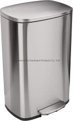 Le silence de la pédale douce 50 litres Poubelle 13.2 gallon l'étape de la corbeille en acier inoxydable avec système de contrôle des odeurs