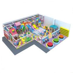 Terrain de jeux intérieur commercial Aire de jeu à thème de bonbons mous en plastique en bois
