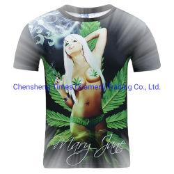 Femmes/Hommes Femmes T -Shirt Plus Size les amoureux de 3D IMPRIMER LES Mauvaises herbes à manches courtes feuilles vertes Cool Tops d'été le raccord en T