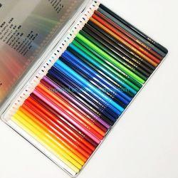틴에 있는 36개의 수채화 연필 세트 학교 문방구 상자 그리기 색 연필