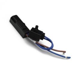 Mini-Disconnect-Type Reóstato rotativa manual do interruptor de reóstato de iluminação do reóstato Rotativo Ligue o botão de Cabo Controlador ajustável