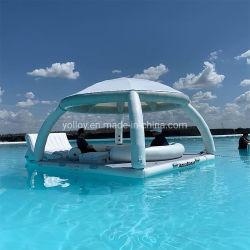 Schwimmende Insel Aufblasbares Boot Zelt Sun Shelter Lounge Plattform für Yachten