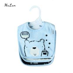 Mayorista de la fábrica de algodón personalizadas baberos para bebés con confortables y Skin-Friendly