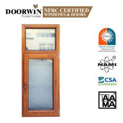 Amerikanisches Art-Sicherheits-Doppeltes glasiert mit Griff-Kurbel-hölzernem thermischem Bruch-Hochleistungs--Neigung-und Melodien-Flügelfenster-Aluminiumfenster