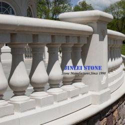 Naturstein Travertin/Sandone Beige/Weißer Marmor Granit Stair Baluster mit Geländer Handlauf