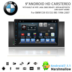 Vshauto Eight-Core Android Market 8.1 aluguer de DVD para a BMW E39 X5 M5 E53 1996 2007
